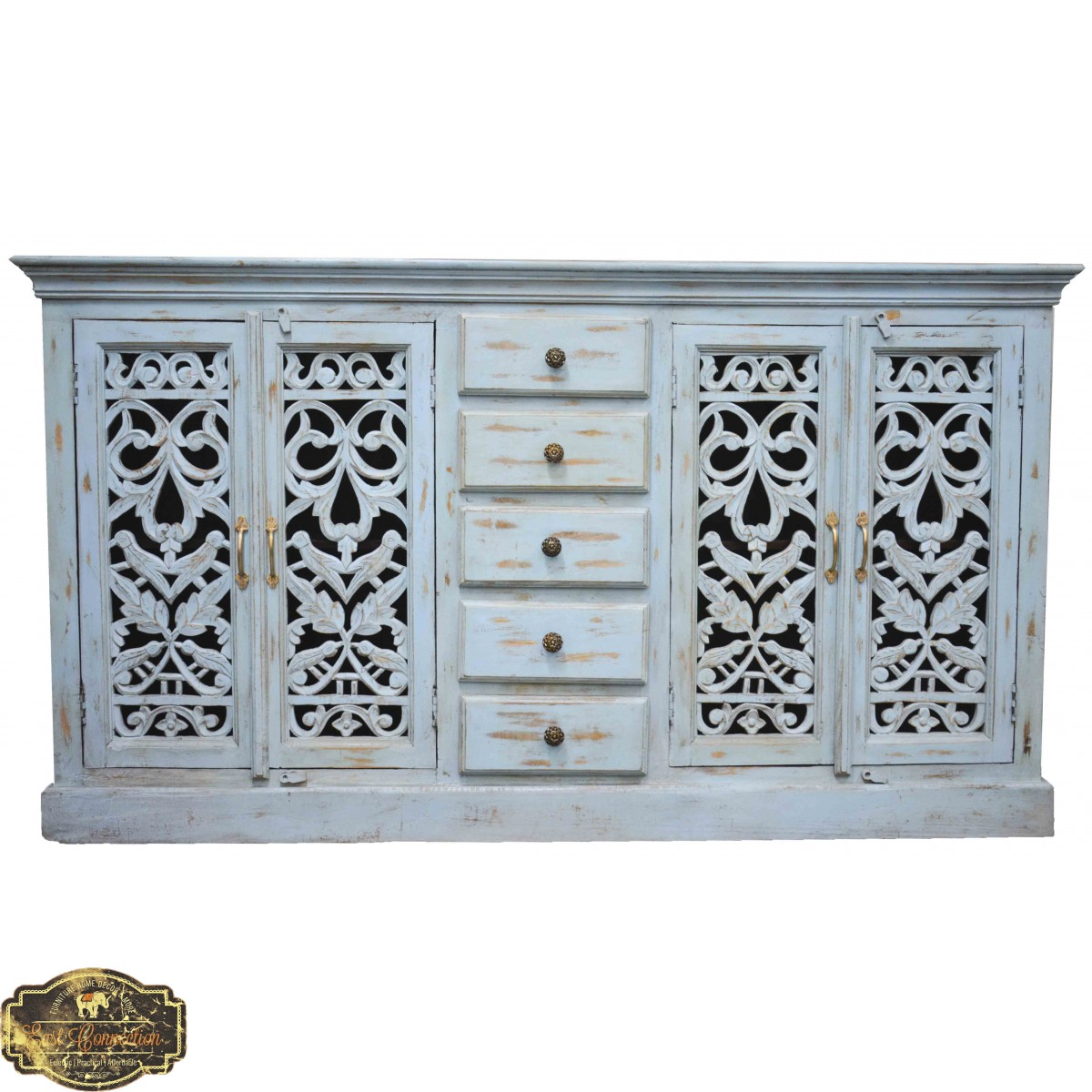 Blue Shabby Chic Painted French Country Sideboard