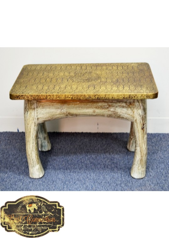 Full brass top bench small
