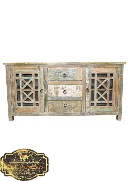 Glass Door French Provinicial Sideboard with drawers