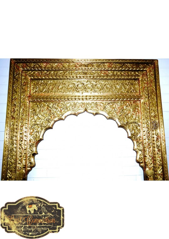 Indian Full Brass Fitted Mehrab Antique Doorway