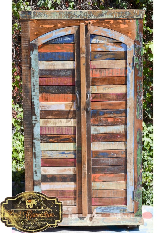 Reclaimed Timber Shutter Wardrobe Cabinet