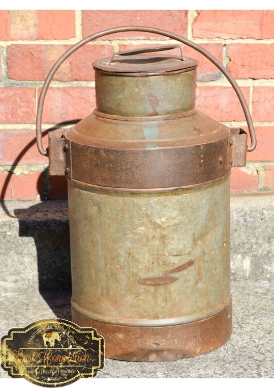 Antique Indian Vintage Metal Milk Urn