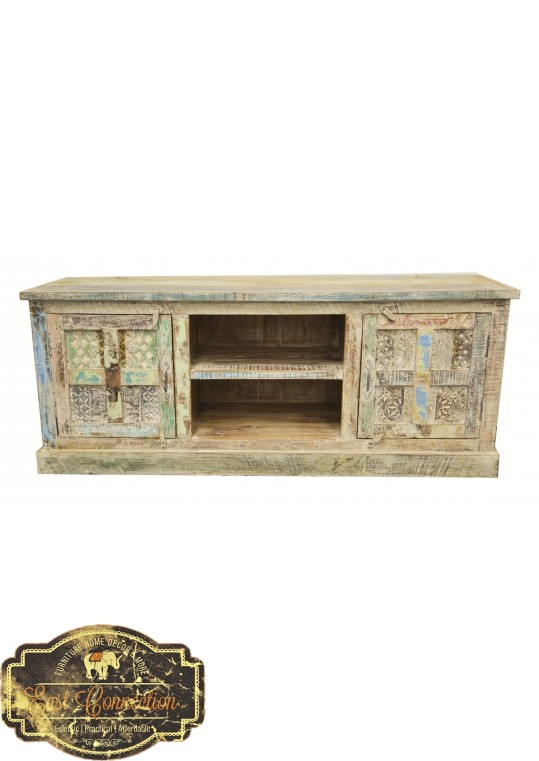 Hand Carved Shabby Chic TV Unit