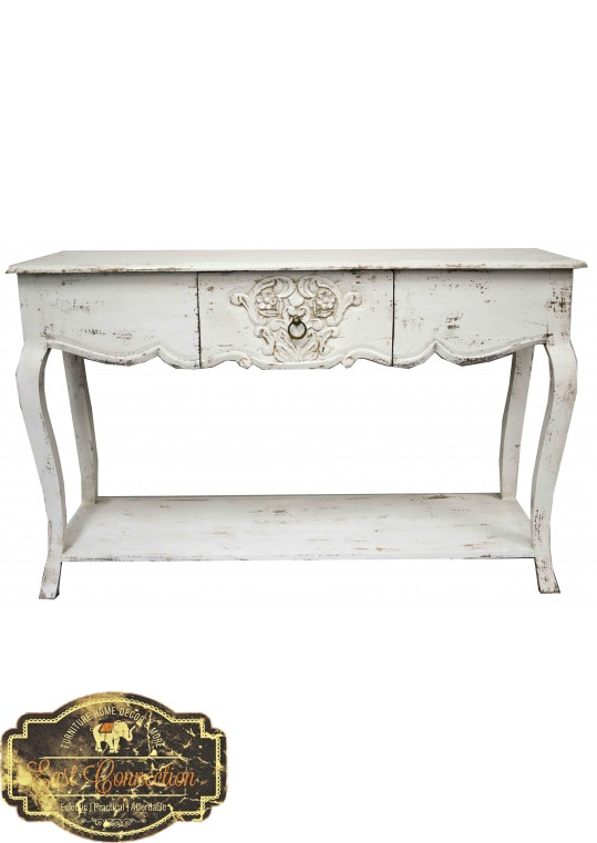 White French Provincial Shabby Chic Console Table