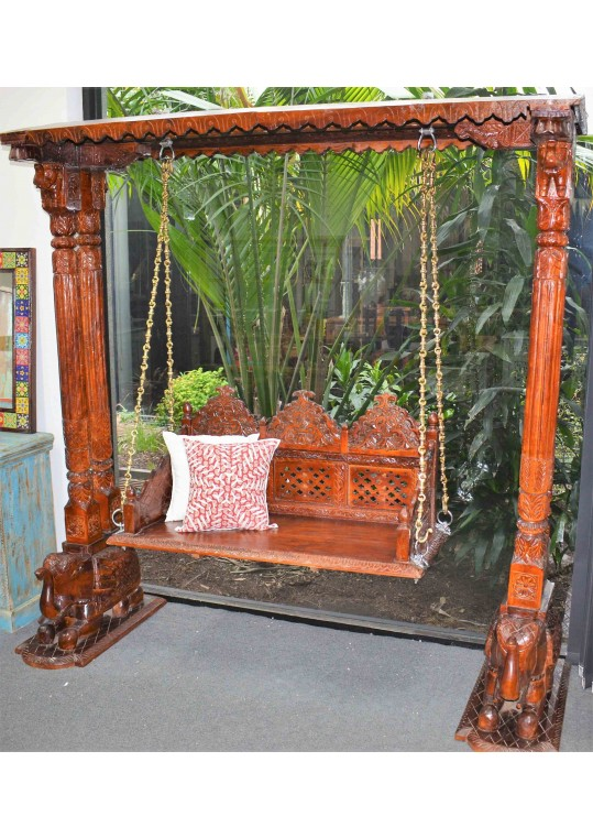 Unique Antique Teak Timber Vintage Swing Jhoola