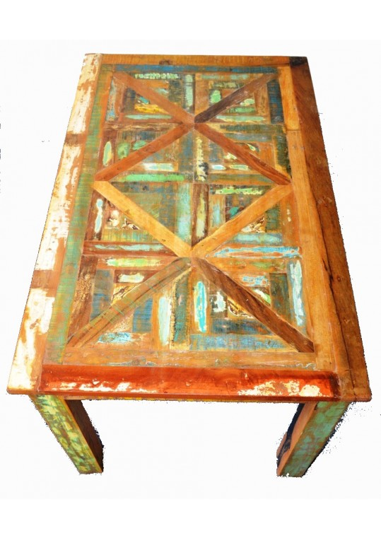 Reclaimed Timber Distressed Country Dining Table (6 Seat)