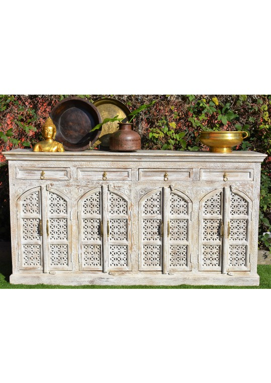 French Provincial Sandblasted Shabby Chic Buffet