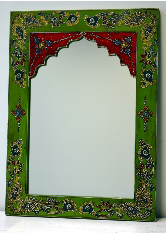 Hand Painted Embossed Design Mehrab Mirror