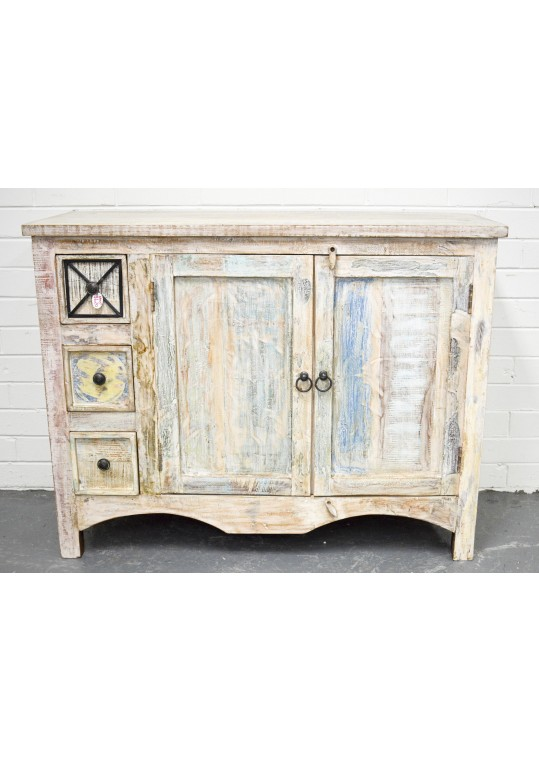 Rustic Shabby Chic Vanity Sideboard Cabinet