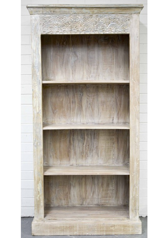 Shabby Chic Hand Carved Timber Bookshelf