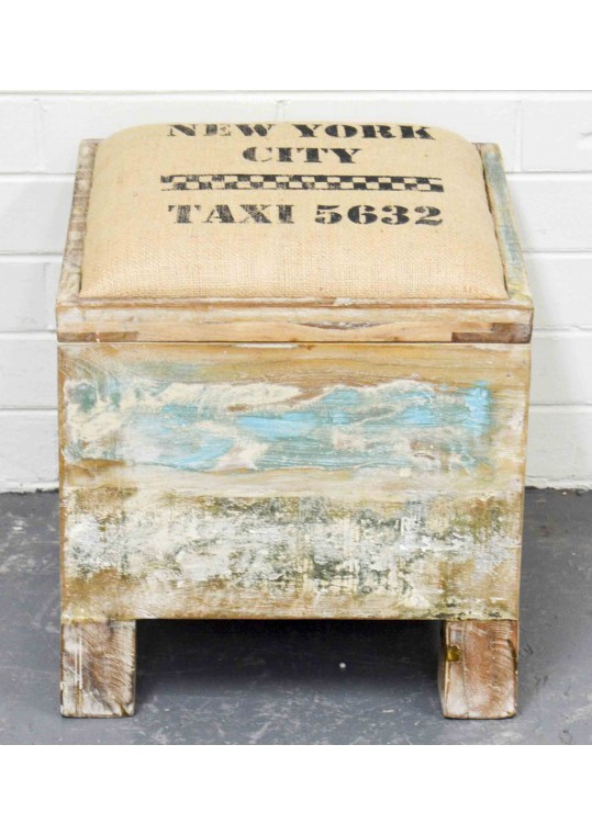 Shabby Chic Recycled Timber Box Storage Seat