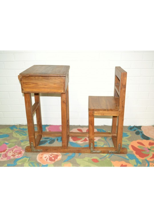 Vintage Timber Children's Antique School Desk
