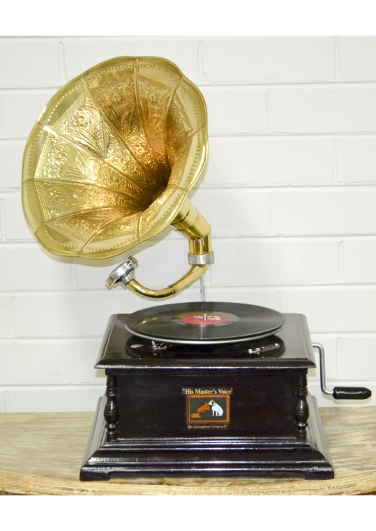 Antique Wind Up Gramophone