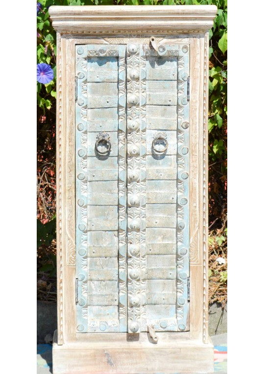 Shabby Chic Antique Blue Door Wardrobe