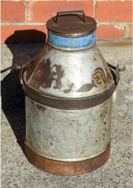 Vintage Indian Antique Metal Milk Urn