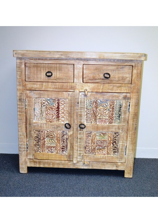 Hand Carved Shabby Chic Sideboard