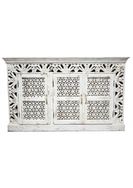 French Provincial Carved Door Shabby Chic Country Sideboard