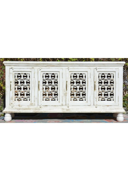 White French Provincial Wrought Iron Sideboard Buffet