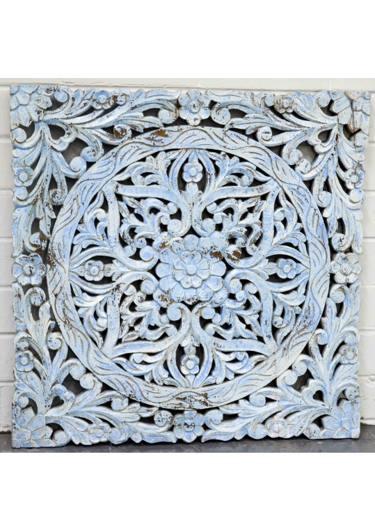 Hand Carved Antique Timber Wall Art