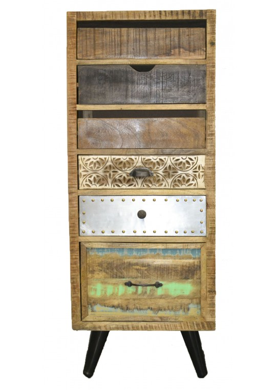 Scandinavian Timber Retro Drawer Unit