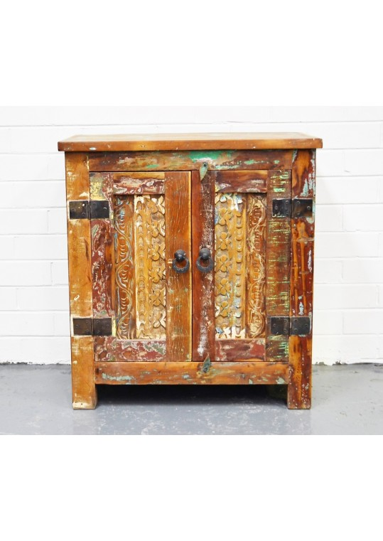 Reclaimed Timber Hand Carved Cabinet Vanity