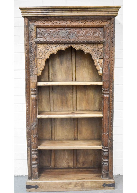Hand carved Mehrab Antique bookshelf