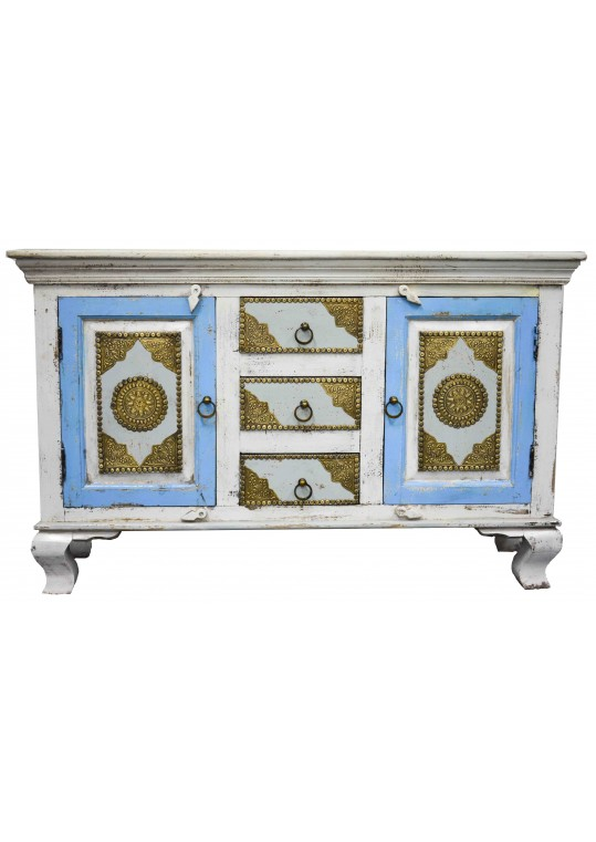 Shabby Chic Brass Fitted French Sideboard