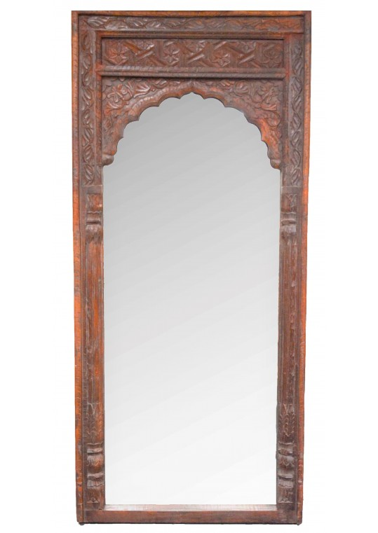 Vintage Indian Antique Mehrab Mirror