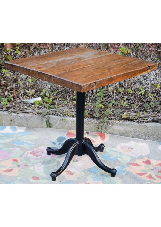 Vintage Industrial Dining Cafe Table - Square