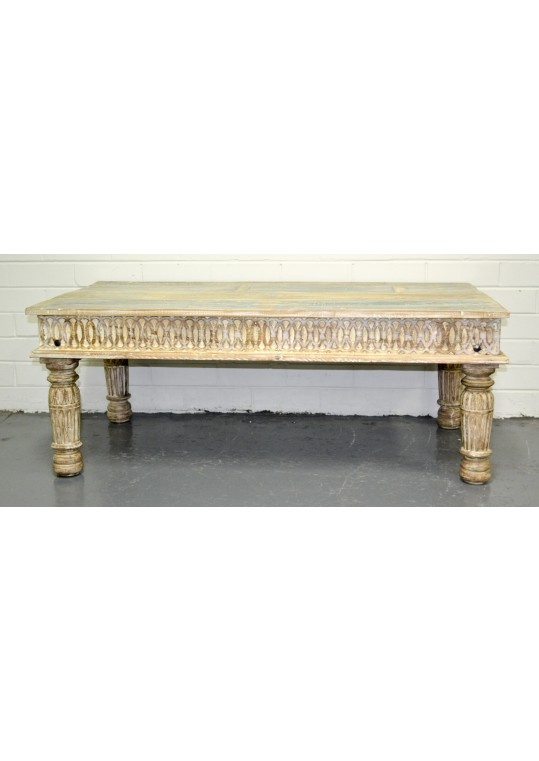 Hand Carved Shabby Chic Coffee Table