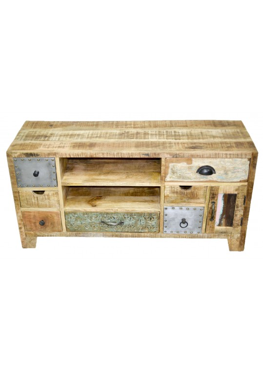 Rustic Multi-drawer Vintage TV Unit
