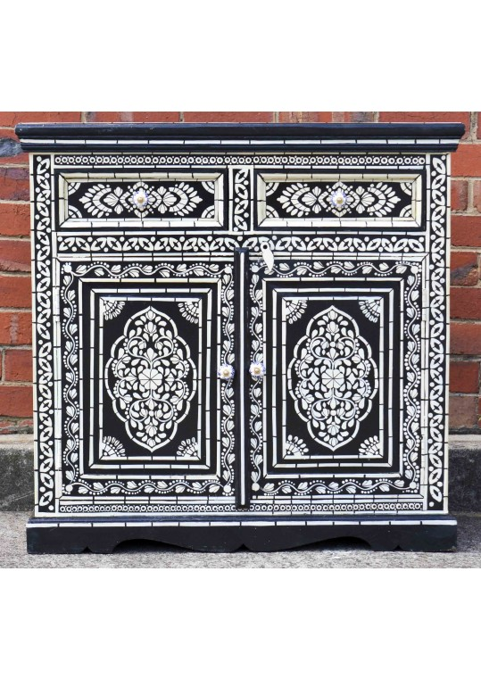 Black Bone Inlay Hand Painted Sideboard/Cabinet