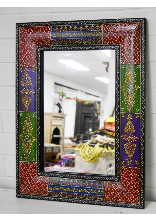 Hand Painted Embossed Patchwork Boho mirror