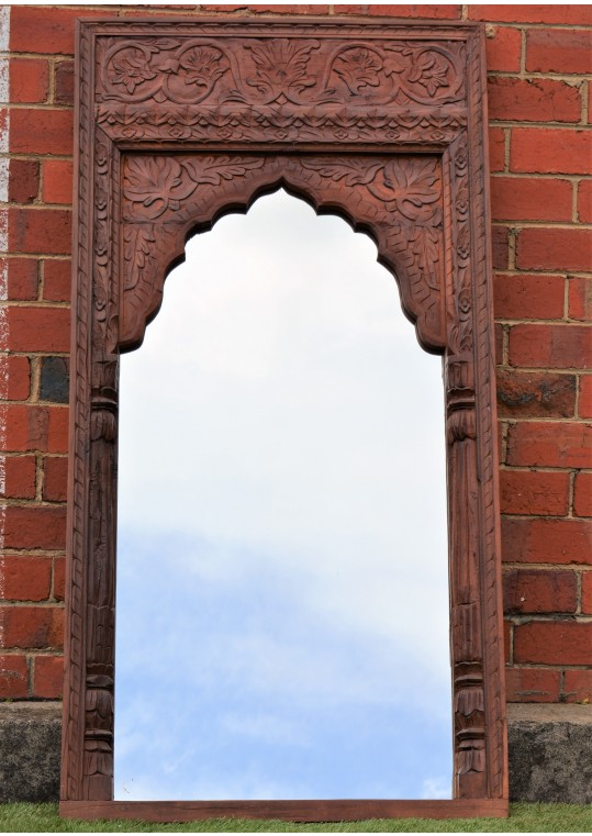 Vintage  Indian Mehrab Antique Timber Mirror