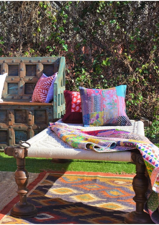 Vintage Indian Village Daybed Charpoy