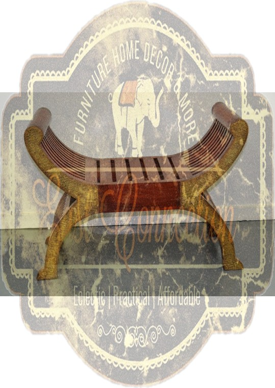Indian Brass Fitted Roman Chair Single