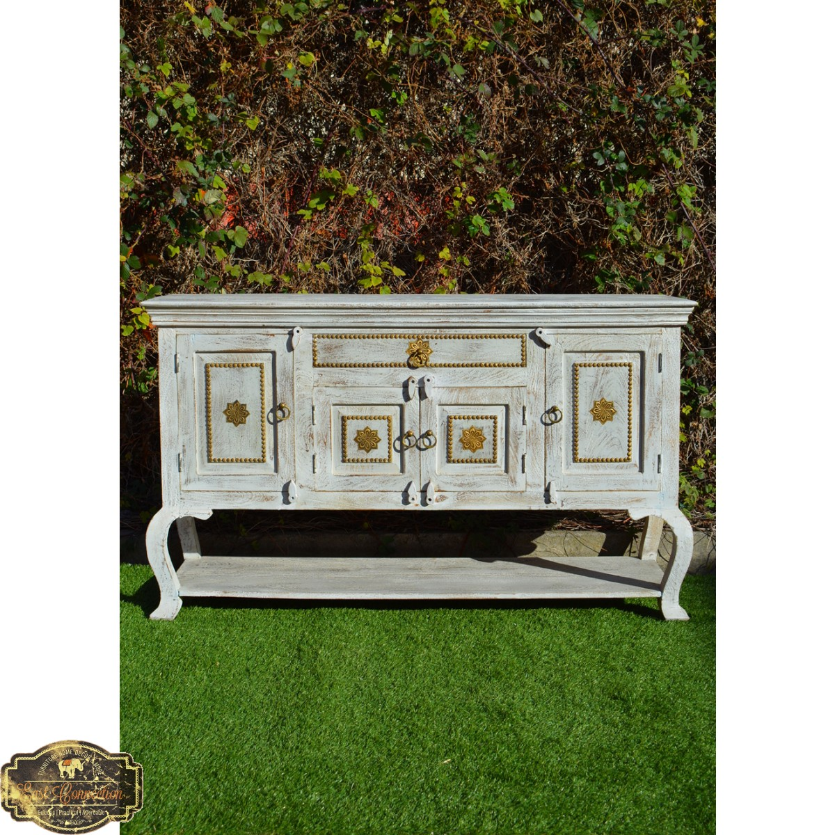 French Provincial Sandblasted Shabby Chic Buffet Table