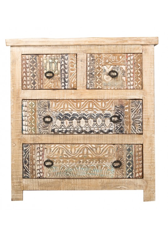 Hand Carved Shabby Chic chest of drawers