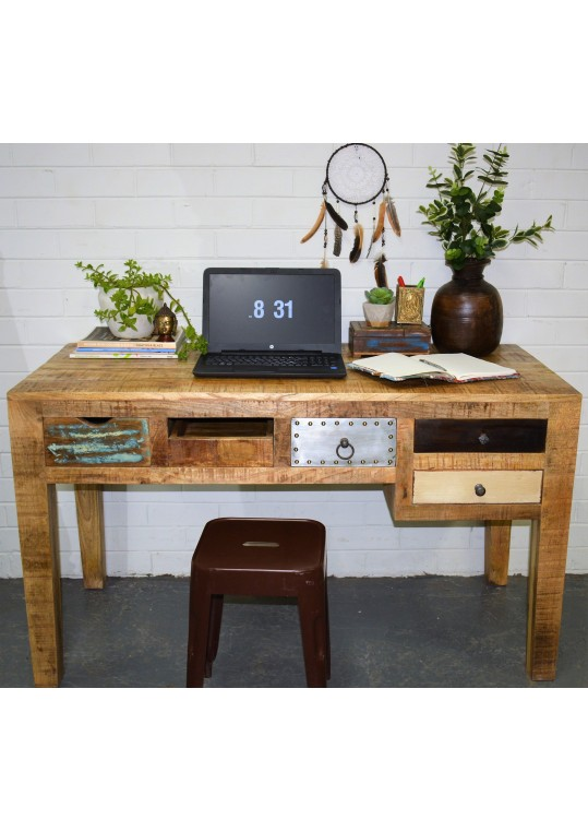 Vintage Industrial Multi Drawer Study Desk