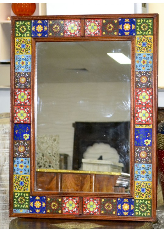 Ceramic Tile Vintage Wall Mirror
