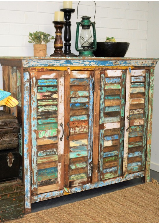 Recycled Timber Shutter High Sideboard