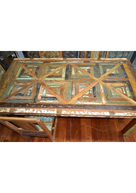 Reclaimed Timber Distressed Country Dining Table (8 Seat)