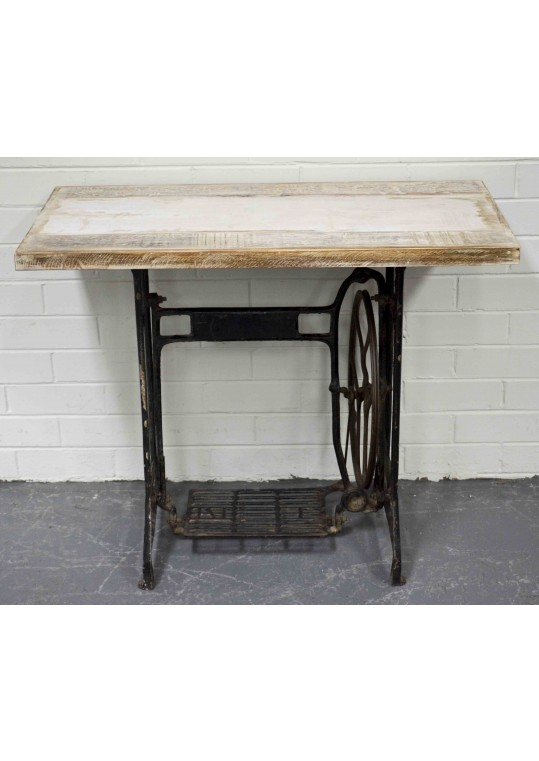 Antique Sewing Machine Retro Industrial Console Table