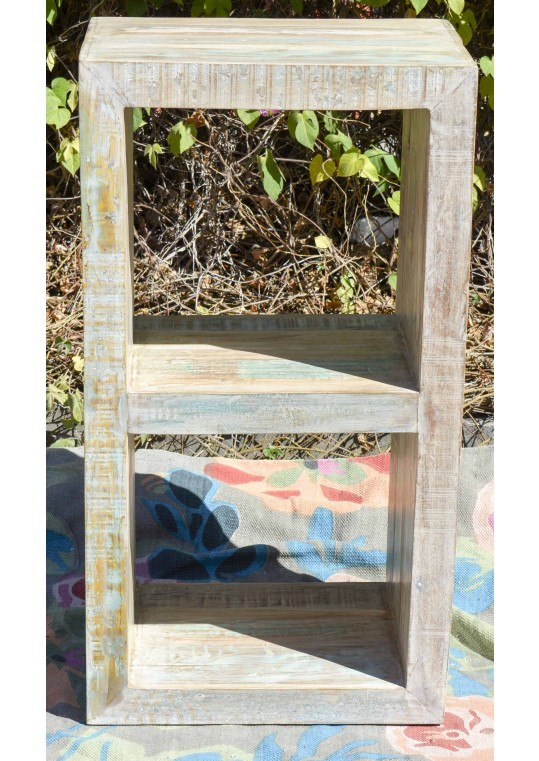 Shabby Chic Timber Storage Shelf