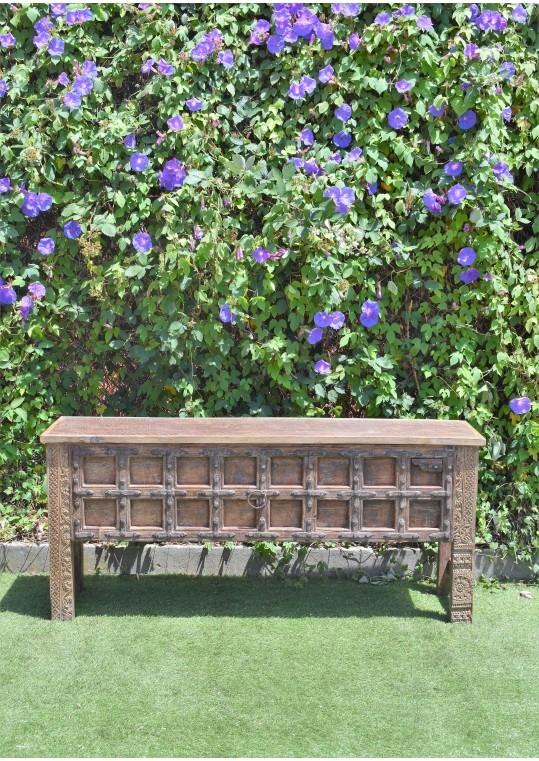 Reclaimed Indian Door Antique Timber Console Hall Table