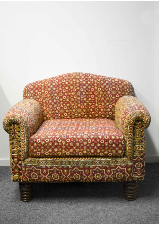 Colourful Indian Pattern Sofa Lounge Chair Armchair