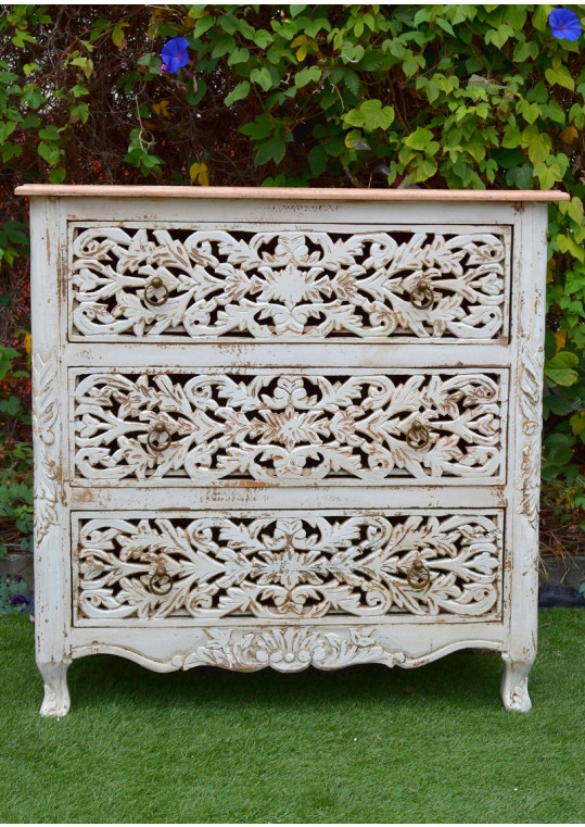 French Provincial Hand Carved Chest of Drawers