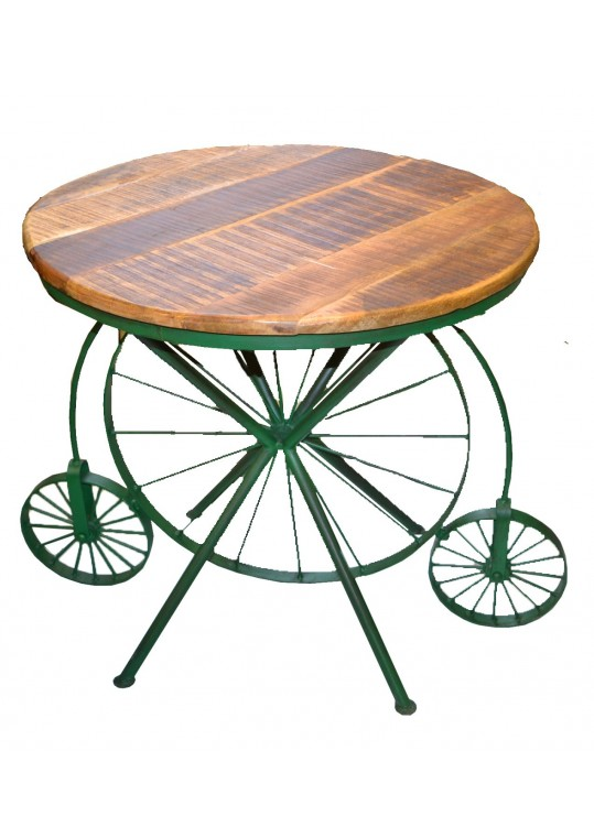Industrial Dining Table - Round Cycle