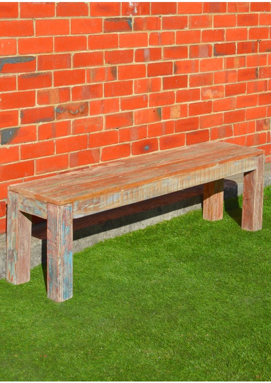 Shabby Chic Recycled Timber Dining Bench