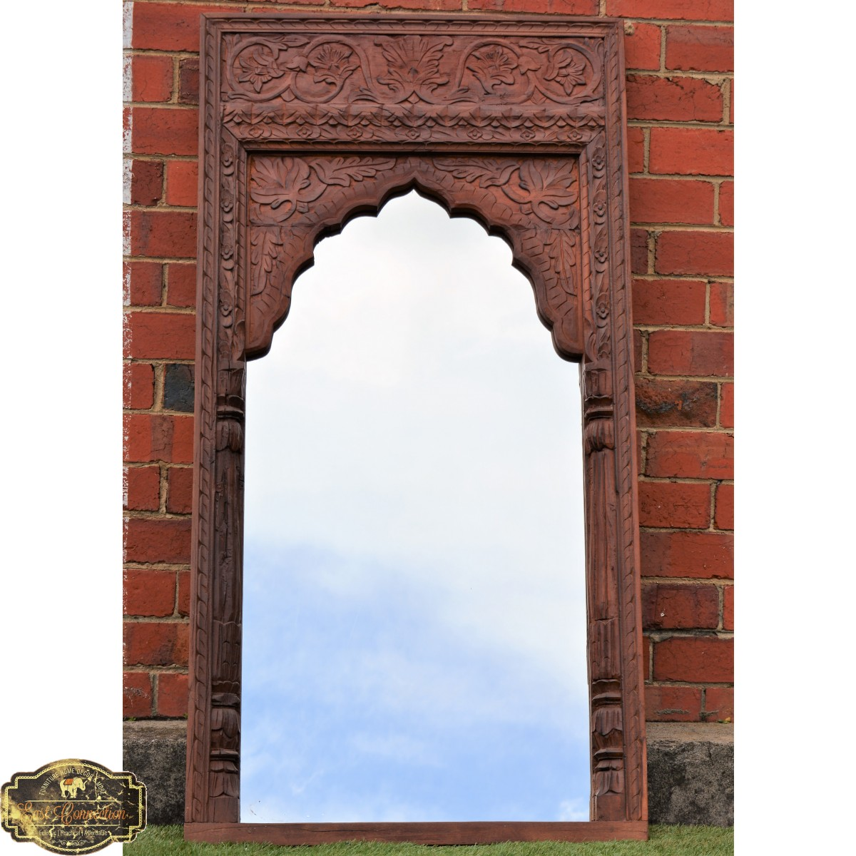 Wall Mirrors Tv Feature Wall With Mirror Mirror Feature: Antique Indian Mehrab Vintage Timber Mirror